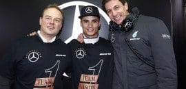Ulrich Fritz, Pascal Wehrlein e Toto Wolff - Mercedes