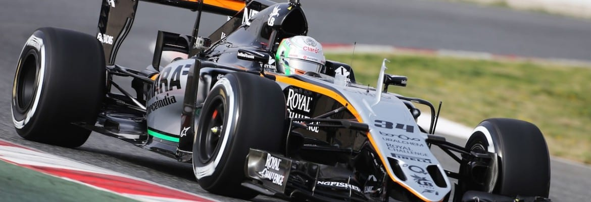 Alfonso Celis Jr (Force India) - Testes Barcelona