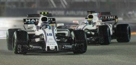 Felipe Massa (Williams) e Lance Stroll (Williams) - GP de Cingapura