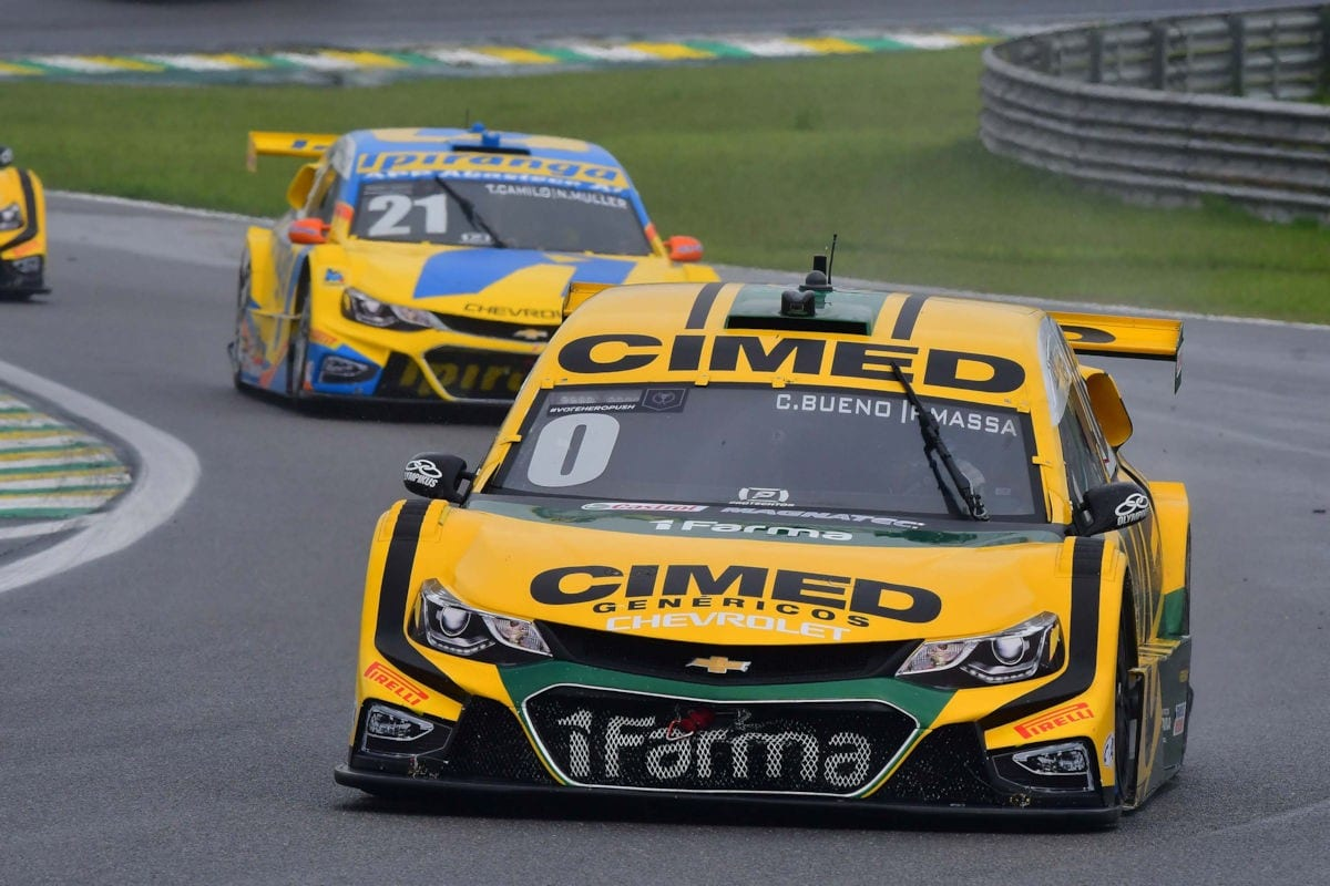 Cacá Bueno e Felipe Massa - Stock Car - Interlagos