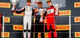 Dorian Boccolacci (MP Motorsport), Anthoine Hubert (ART Grand Prix), Nikita Mazepin (ART Grand Prix)