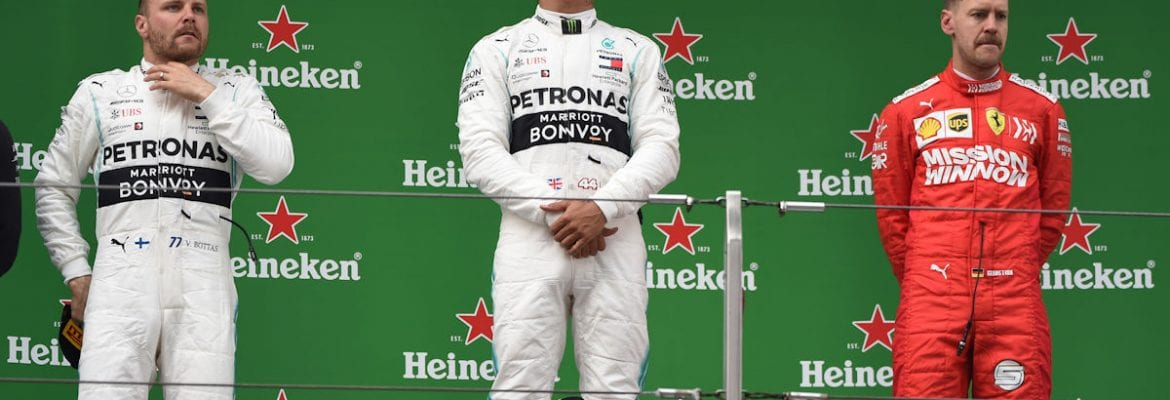 Bottas. Hamilton e Vettel (China) - Pódio F1 2019